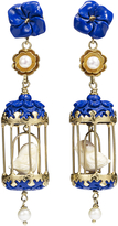 Of Rare Origin Aviary Classic Earrings - Blue & White