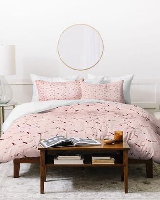 Deny Designs Holli Zollinger Tropical Flamingo Duvet Cover Set