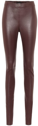 Joseph Mid-rise leather leggings