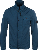 Cp Company Teal Garment Dyed Overshirt
