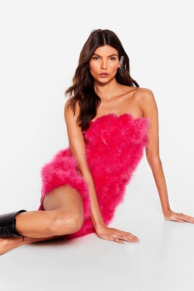 Nasty Gal Womens Angel on Your Shoulder Feather Mini Dress - Fuchsia