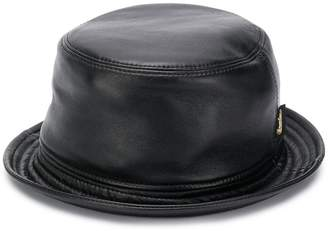 Borsalino stitch-detail logo bucket hat