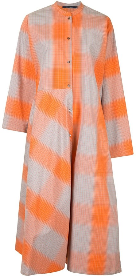 Sofie D'hoore Check-Pattern Shirt Dress