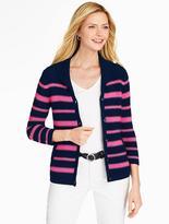 Talbots Stripe Shawl-Collar Cardigan