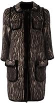 Maurizio Pecoraro patch pocket jacquard coat