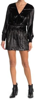 Frame Metallic Velvet Mini Dress