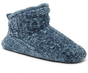 Dearfoams Women's Cable Knit Chenille Bootie Slippers, Online Only