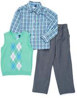 Good Lad Green Sweater Button-Up & Pant Set - Toddler & Boys