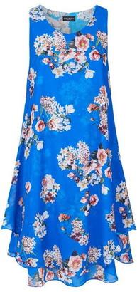 James Lakeland Sleeveless Print Wave Hem Dress