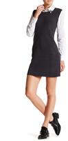 Eliza J Embellished Collar Twofer Shirt Dress