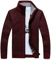 Flyme® Men's Wool Zipper Cardigan Sweater (L, )