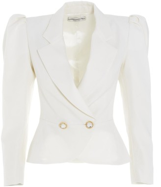 Alessandra Rich Double Breasted Padded Shoulder Blazer