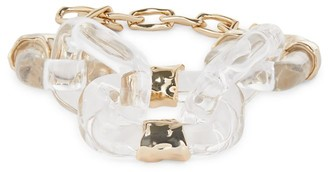 Alexis Bittar Future Antiquity 10K Yellow Goldplated & Lucite Soft Link Bracelet
