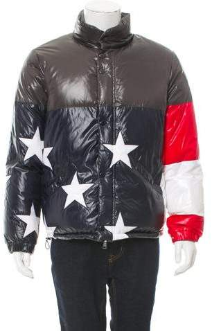 Moncler 2016 USA Flag 10 Reversible Coat