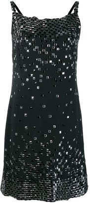 Chanel Pre Owned Embellished Straight Dress