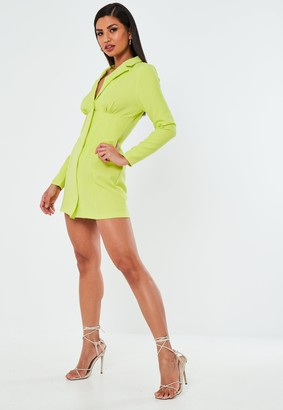Missguided Lime Corset Blazer Dress