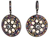 MCL by Matthew Campbell Laurenza Multicolor Sapphire & Topaz Round Drop Earrings