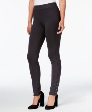 Style&Co. Style & Co Snap-Hem Ponte-Knit Leggings, Created for Macy's