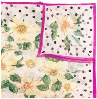 Dolce & Gabbana Lightweight Floral Silk Scarf