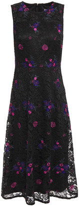 DKNY Embroidered Corded Lace Dress