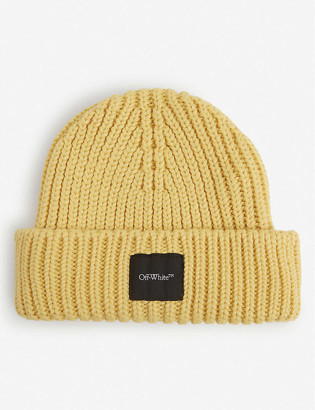 Off-White Ribbed wool beanie