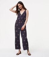LOFT Medallion V-Neck Jumpsuit