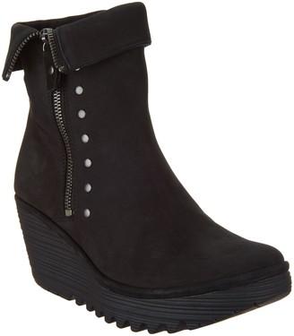 Fly London Nubuck Leather Zip Mid Boots - Yemi