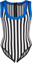 David Koma Striped Intarsia Bodysuit