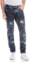 american stitch Basket Weave Destroyed Slim Fit Jeans