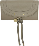 See by Chloe Grey Long Flap Wallet