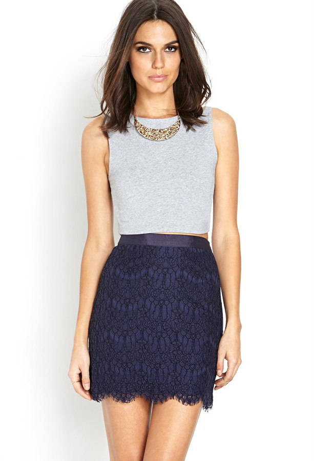 Forever 21 Lace Mini Skirt