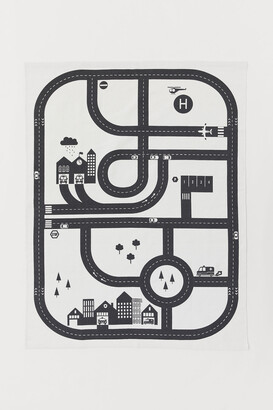 H&M Cotton Rug with Town Design