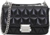 MICHAEL Michael Kors Sloan Small Chain Shoulder Bag In Costa Lamb Matelasse Leather 18k