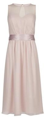Dorothy Perkins Womens Showcase Blush 'Melissa' Sheer Panel Insert Midi Dress