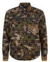 Valentino Star Embellished Camo Jacket