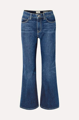Eve Denim Jacqueline Cropped High-rise Flared Jeans - Dark denim