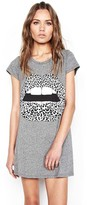 Lauren Moshi Lana Mini T-Shirt Dress in Heather Grey