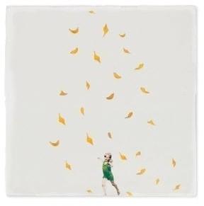 STORYTILES - A Flower Dance Ceramic Tile - 10x10cm | ceramic | white - White/White