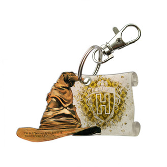 Trend Setters Ltd Key Chains - Harry Potter Hufflepuff Collegiate Crest & Sorting Hat Key Chain