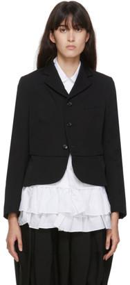 COMME DES GARÇONS GIRL Black Wool Tuxedo Blazer