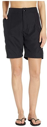 Maxine Of Hollywood Swimwear Solids Woven Long Boardshort (Black) Women's Swimwear