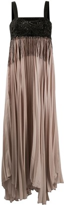 Pinko Empire Line Pleated Dress