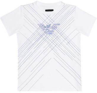 Emporio Armani Kids Printed cotton jersey T-shirt