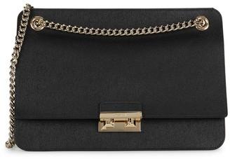 Furla Textured Leather Chain Shoulder Bag