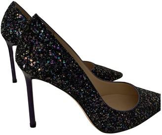 Jimmy Choo Romy Navy Glitter Heels
