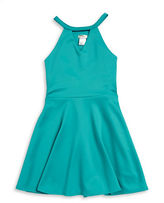 Sally Miller Girls 7-16 Girls Cutout Fit-and-Flare Dress