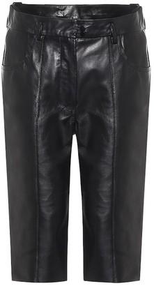 Petar Petrov Howie leather Bermuda shorts