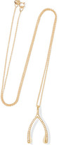 Jennifer Meyer Wishbone 18-karat Gold Diamond Necklace - one size