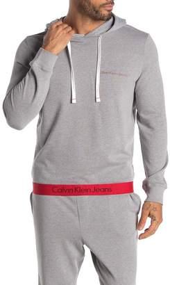 Calvin Klein Logo Hem Drawstring Hoodie