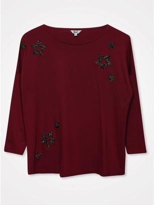 M&Co Khost clothing glitter star jumper
